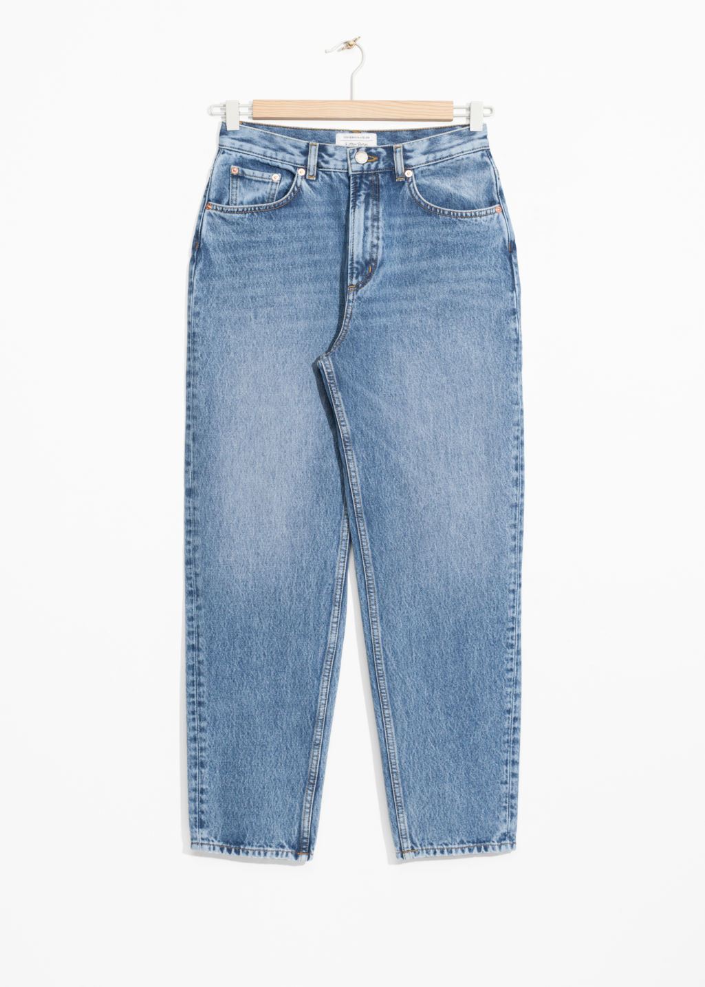 Front image of Stories mom denim  in blue