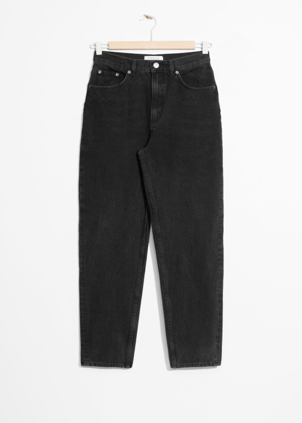 Front image of Stories mom denim  in black