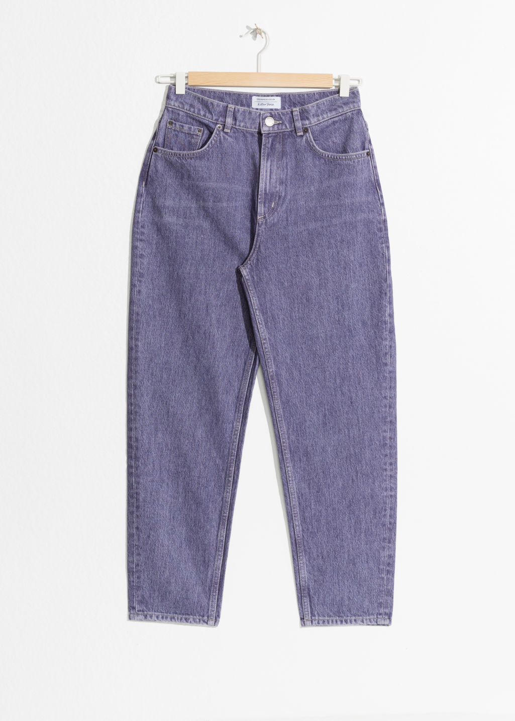 Front image of Stories mom denim  in purple
