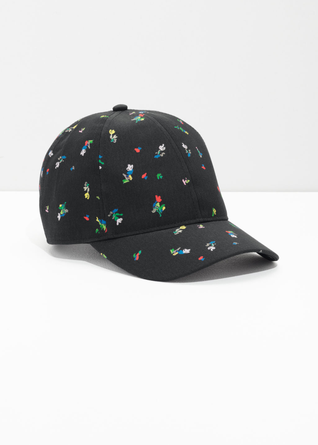 Front image of Stories jacquard cap  in black