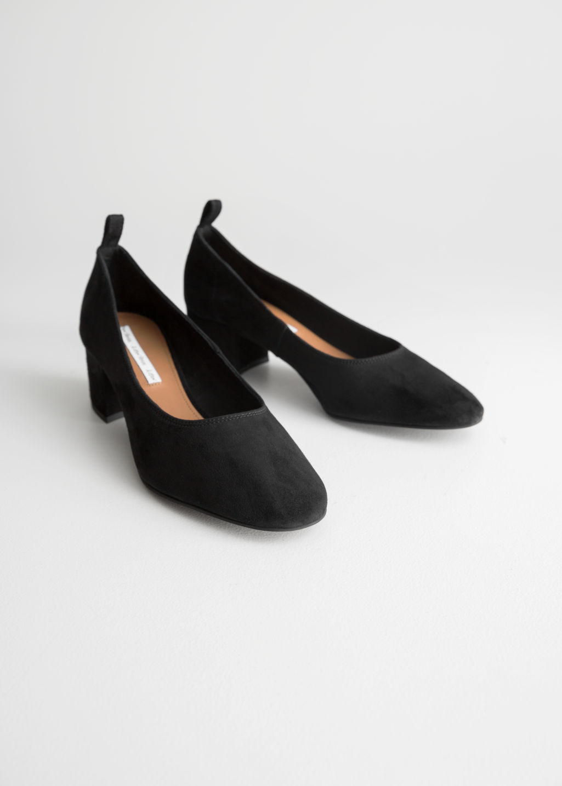 235ec660d36 Back image of Stories suede ballet pump in black ...