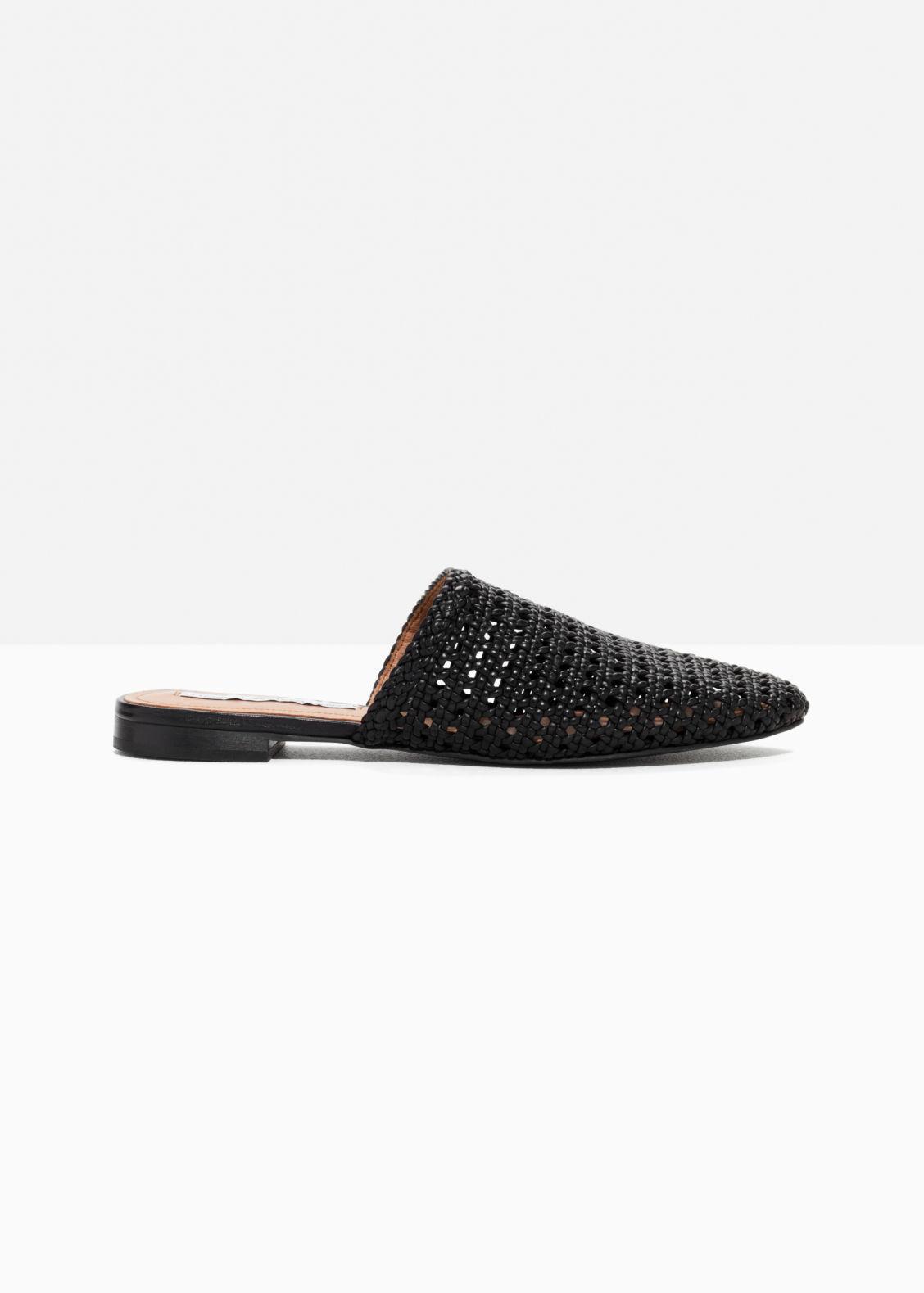 & OTHER STORIES Braided Leather Slippers - Black Orden de venta barata Barato para barato Venta caliente en línea Opción de venta barata lumyd