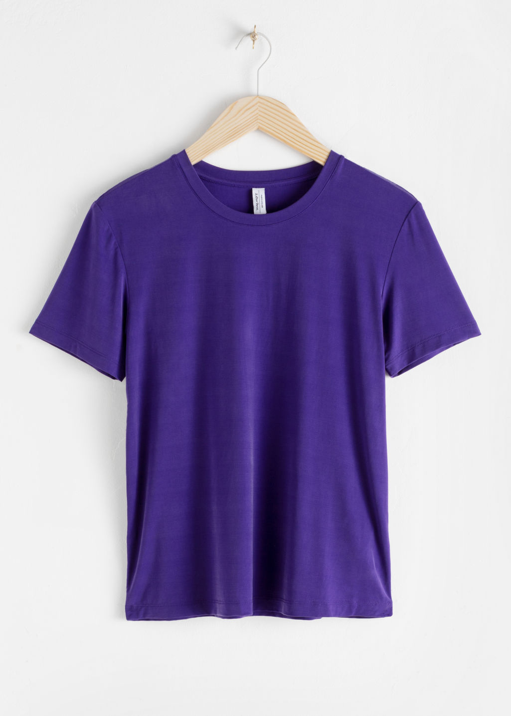 Front image of Stories cupro t-shirt in purple
