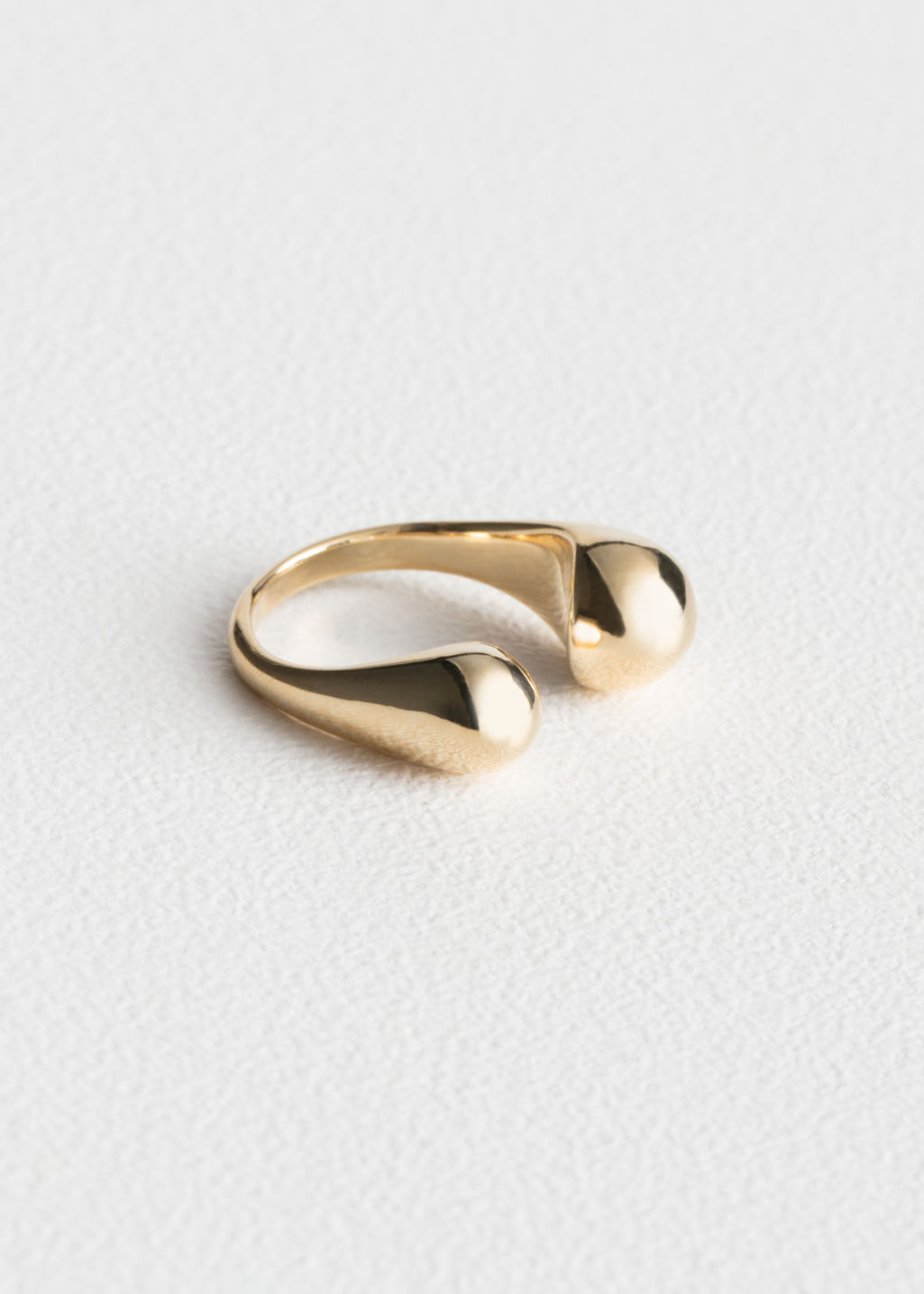 Front image of Stories open ring in gold