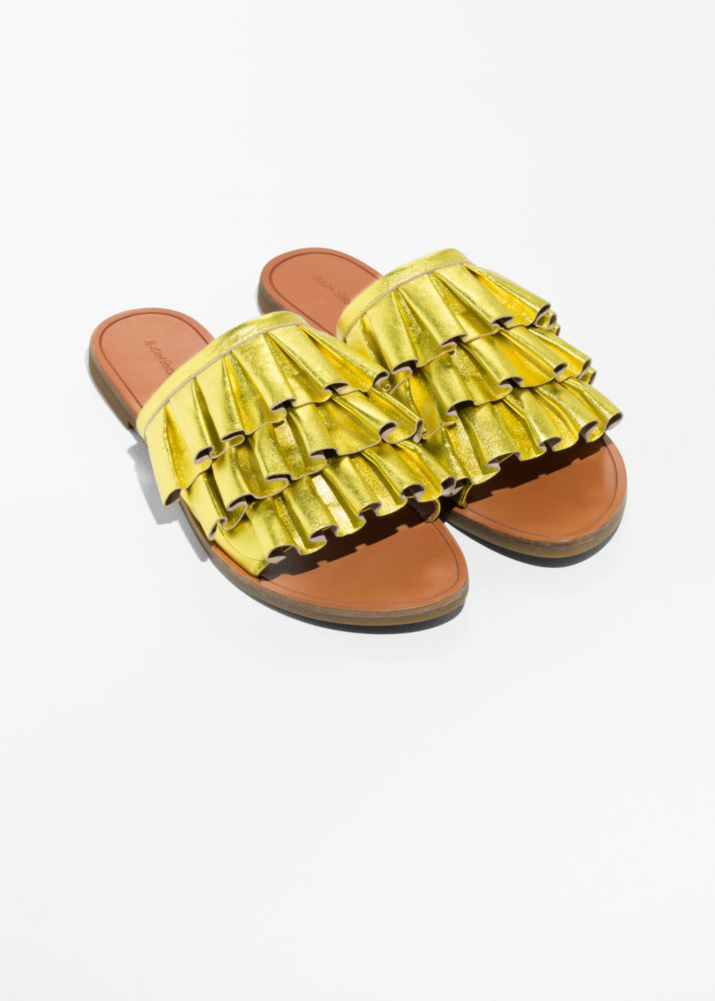 & OTHER STORIES Frill Slippers