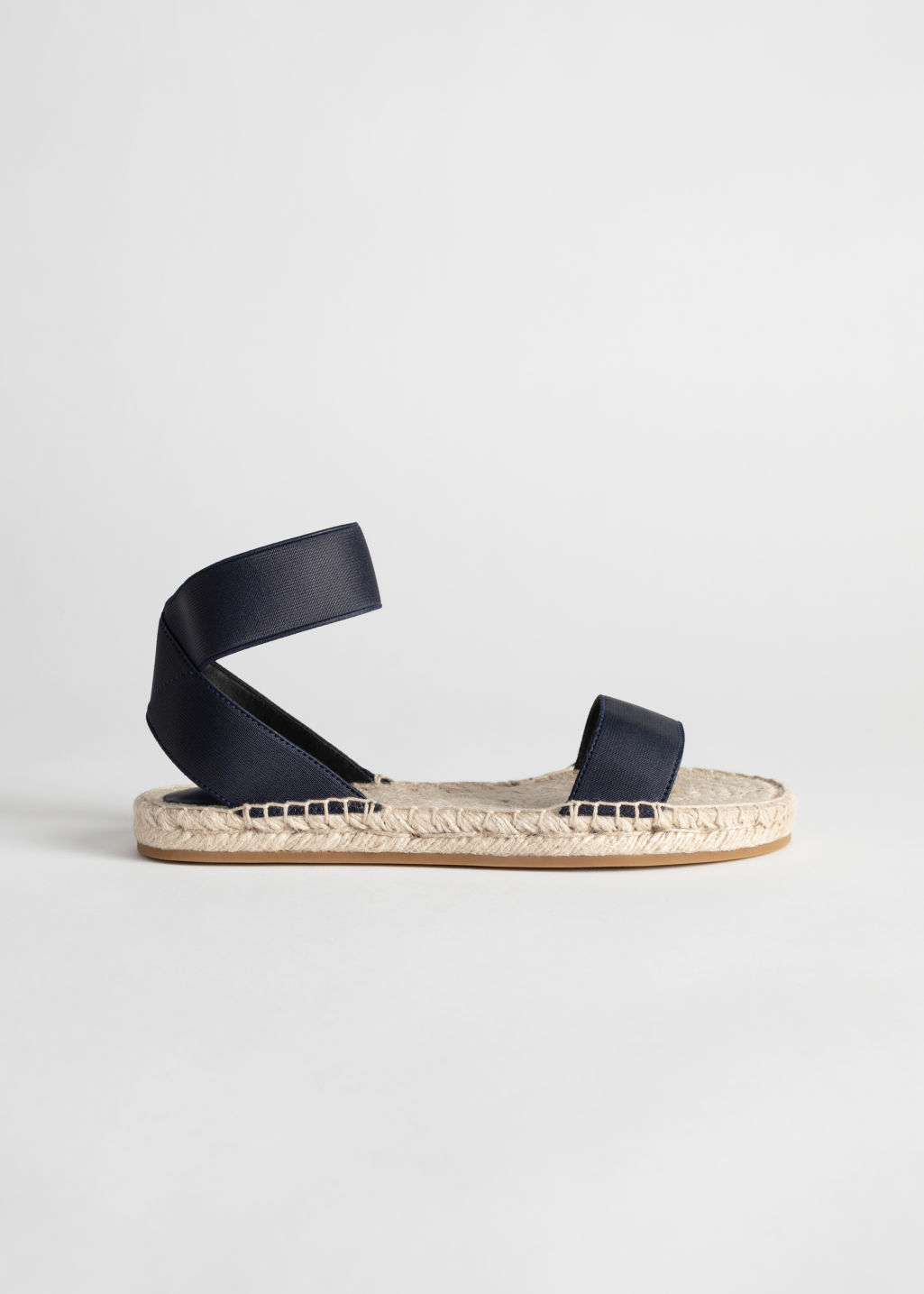 6d18a29f2 Two-Strap Sandal - Navy - Flat sandals -   Other Stories