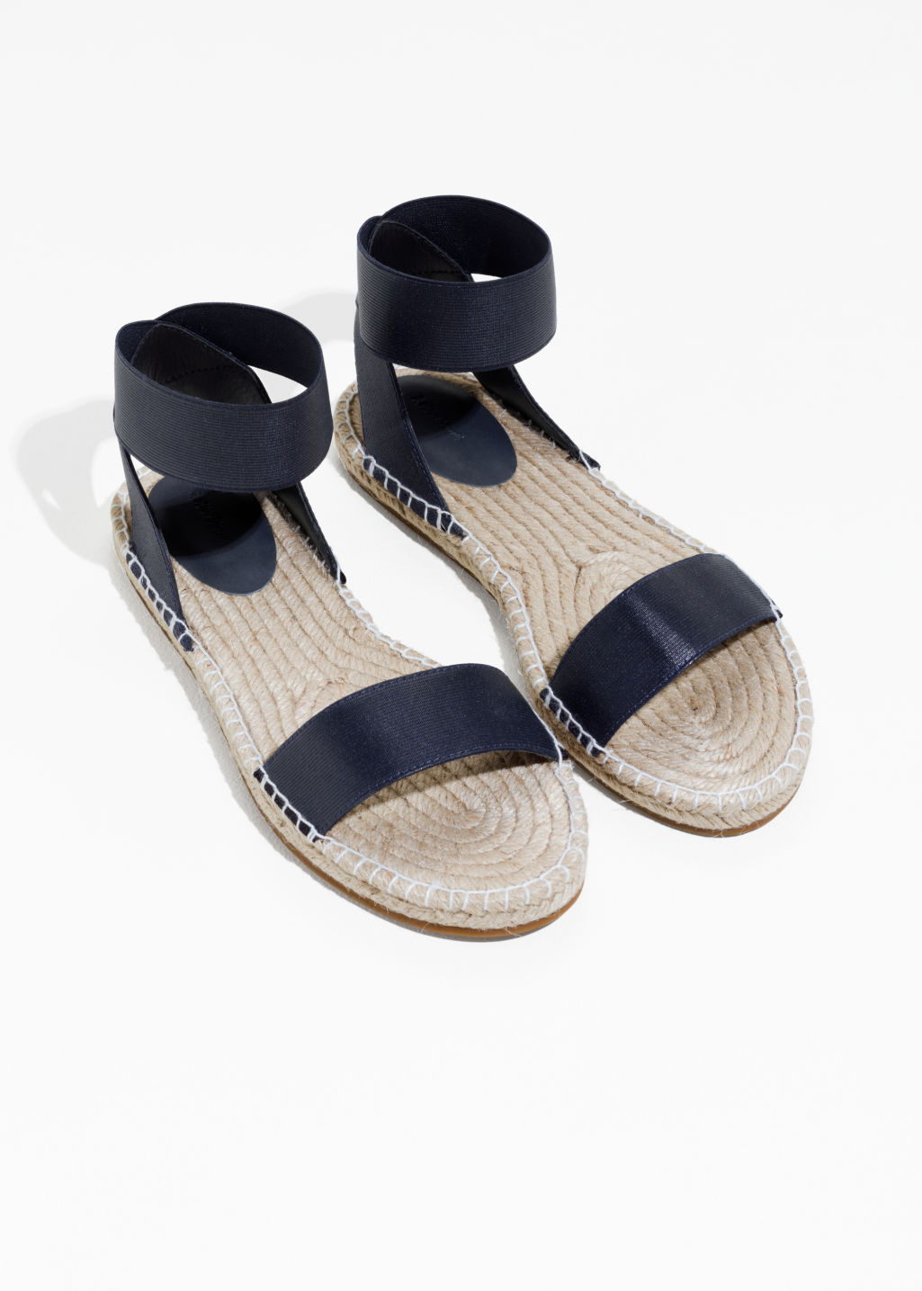 Back image of Stories two-strap sandal in blue
