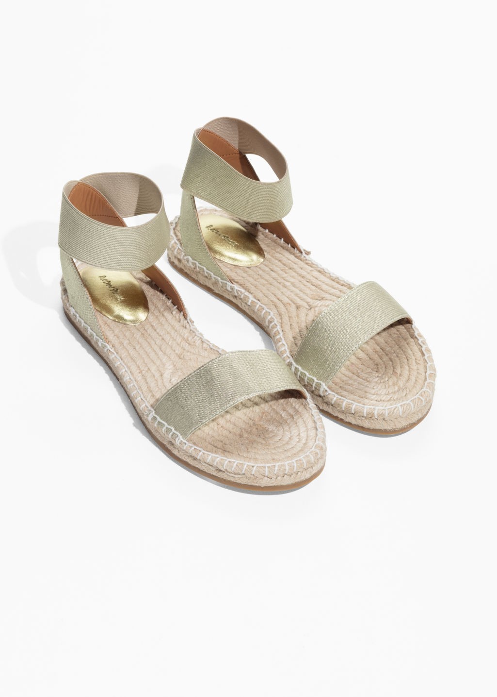 Back image of Stories two-strap sandal in gold