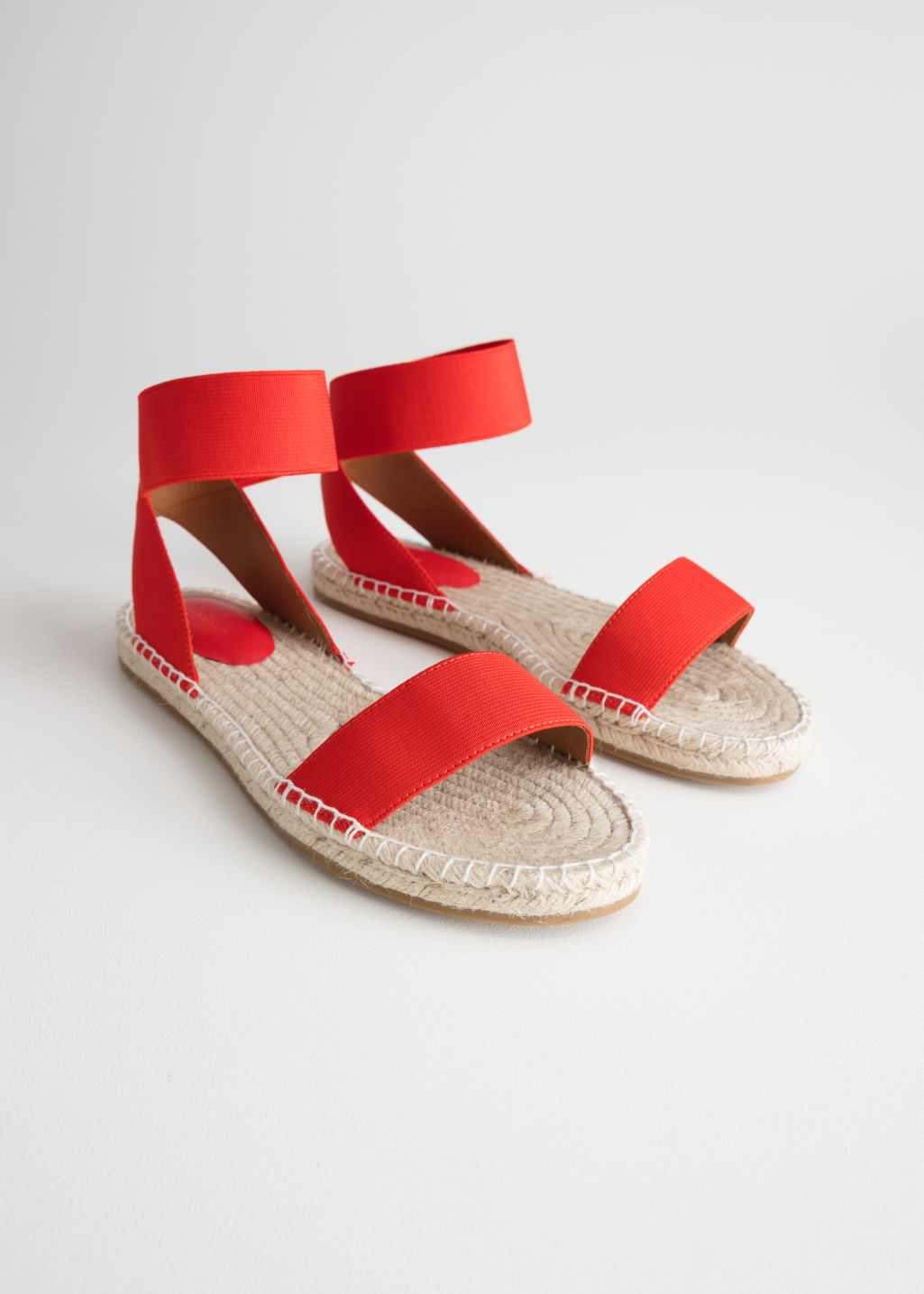 Back image of Stories two-strap sandal in red