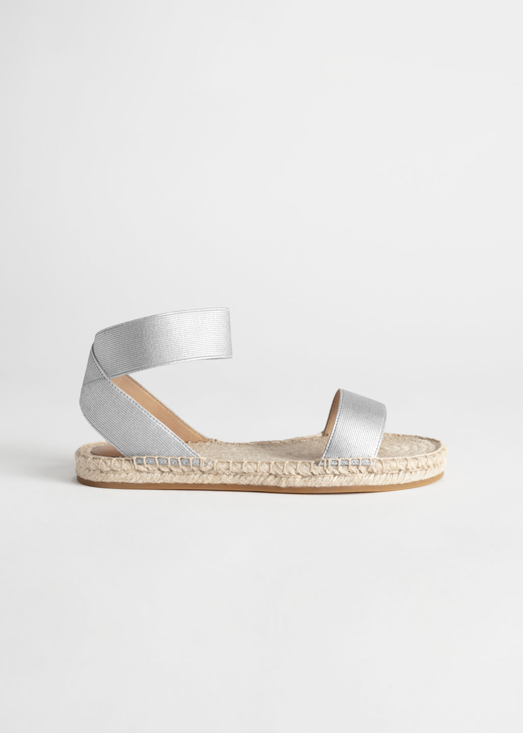 StillLife Front Image of Stories Strappy Espadrille Sandal in Brown