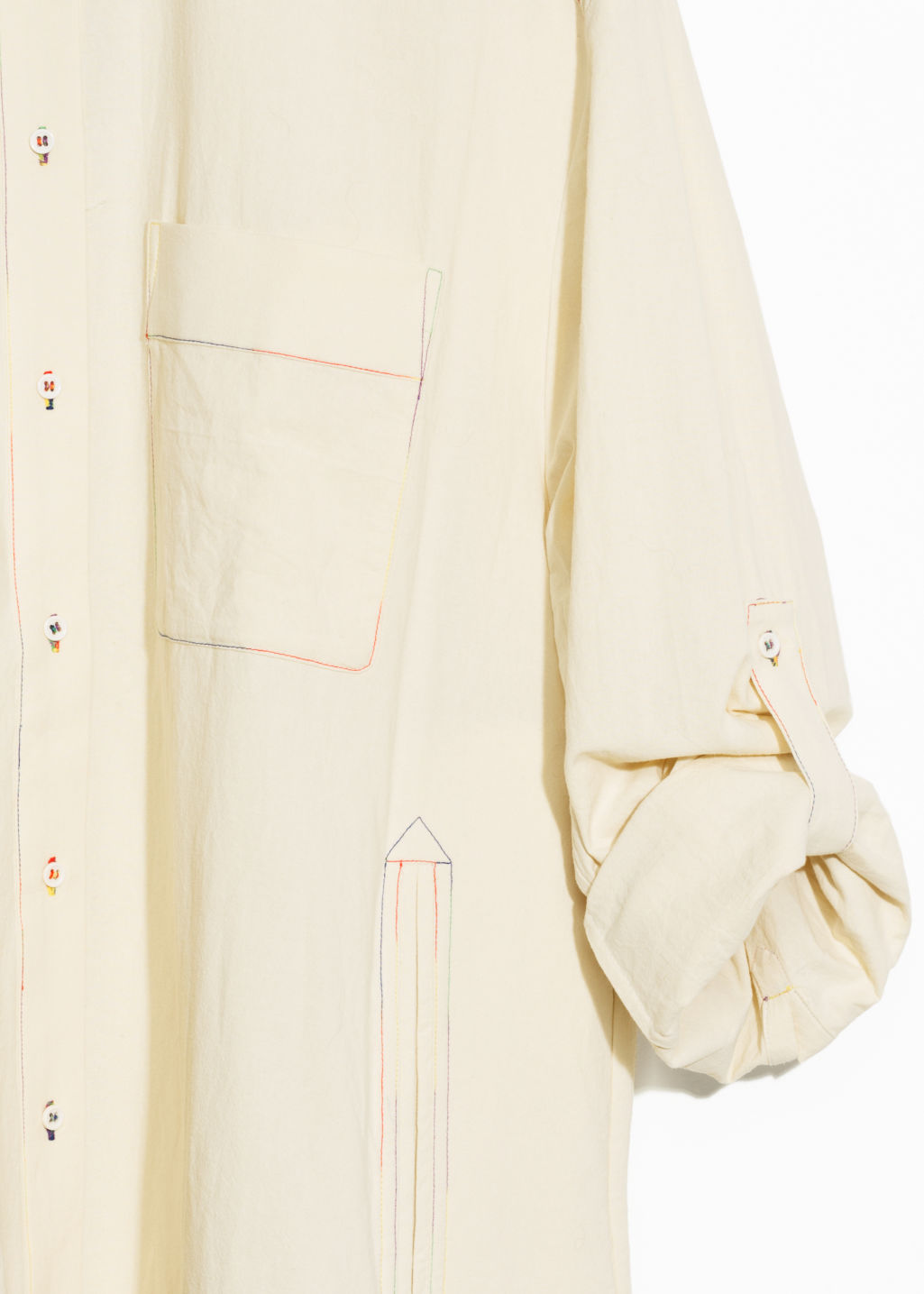Back image of Stories toms cotton shirt in beige