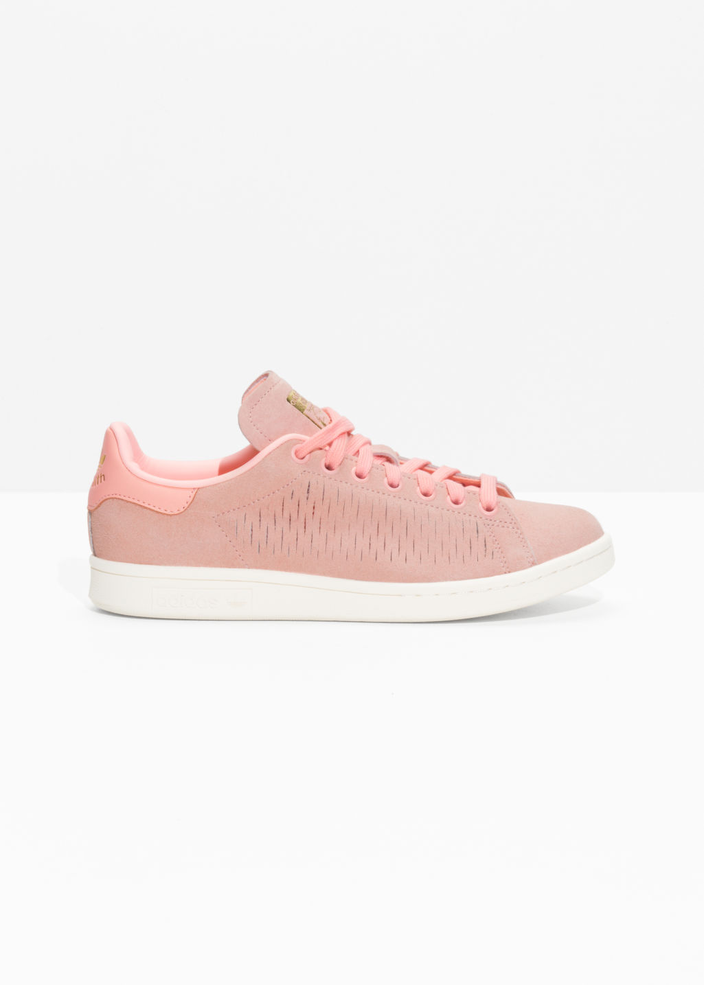 Front image of Stories adidas stan smith w in pink
