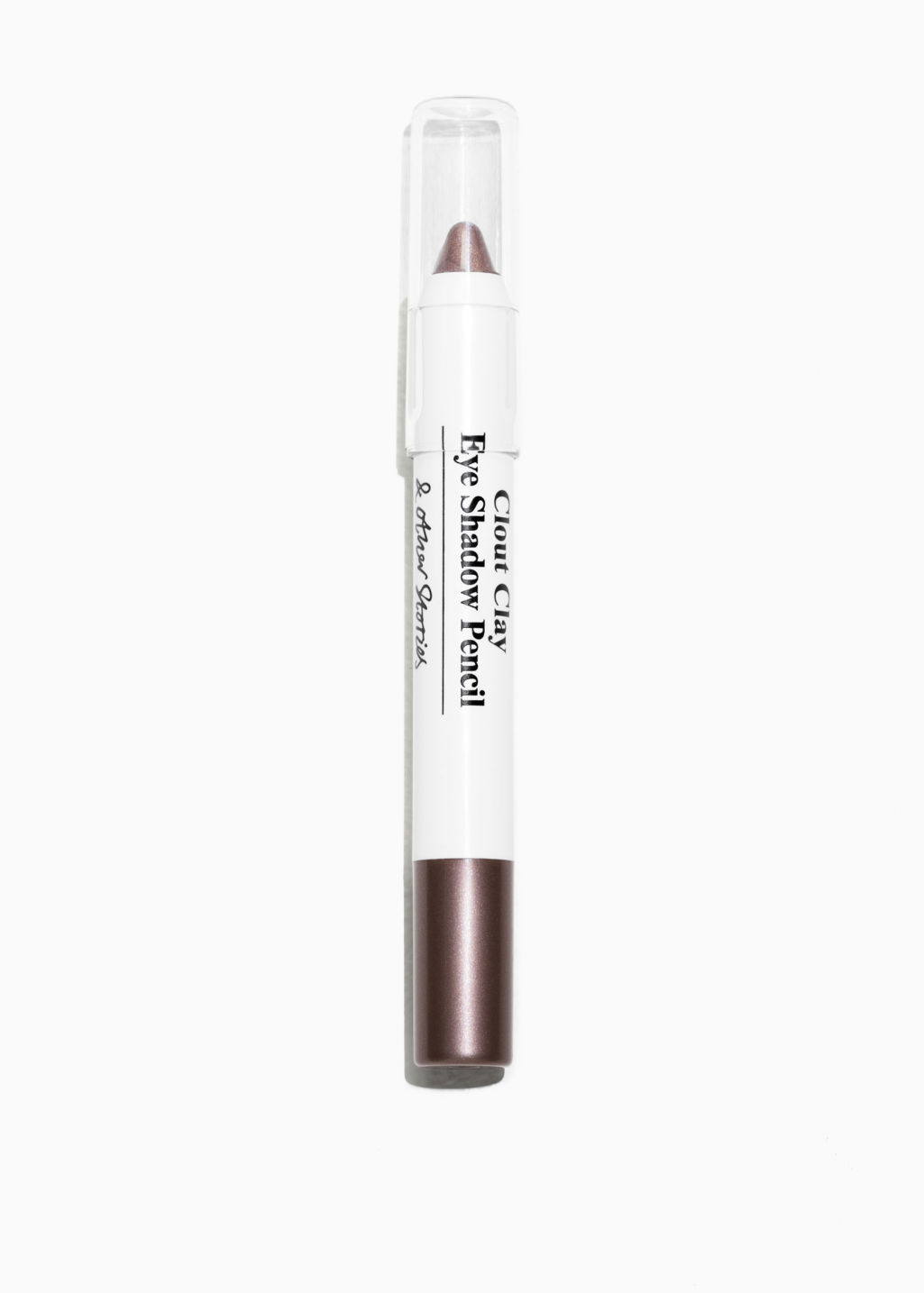 Front image of Stories eye shadow pencil in brown