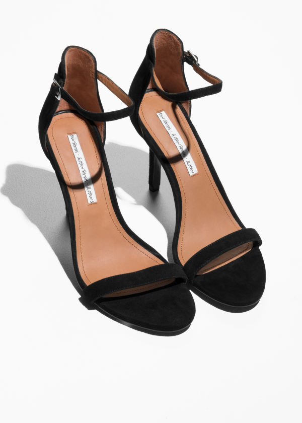 Suede Two Strap Sandals