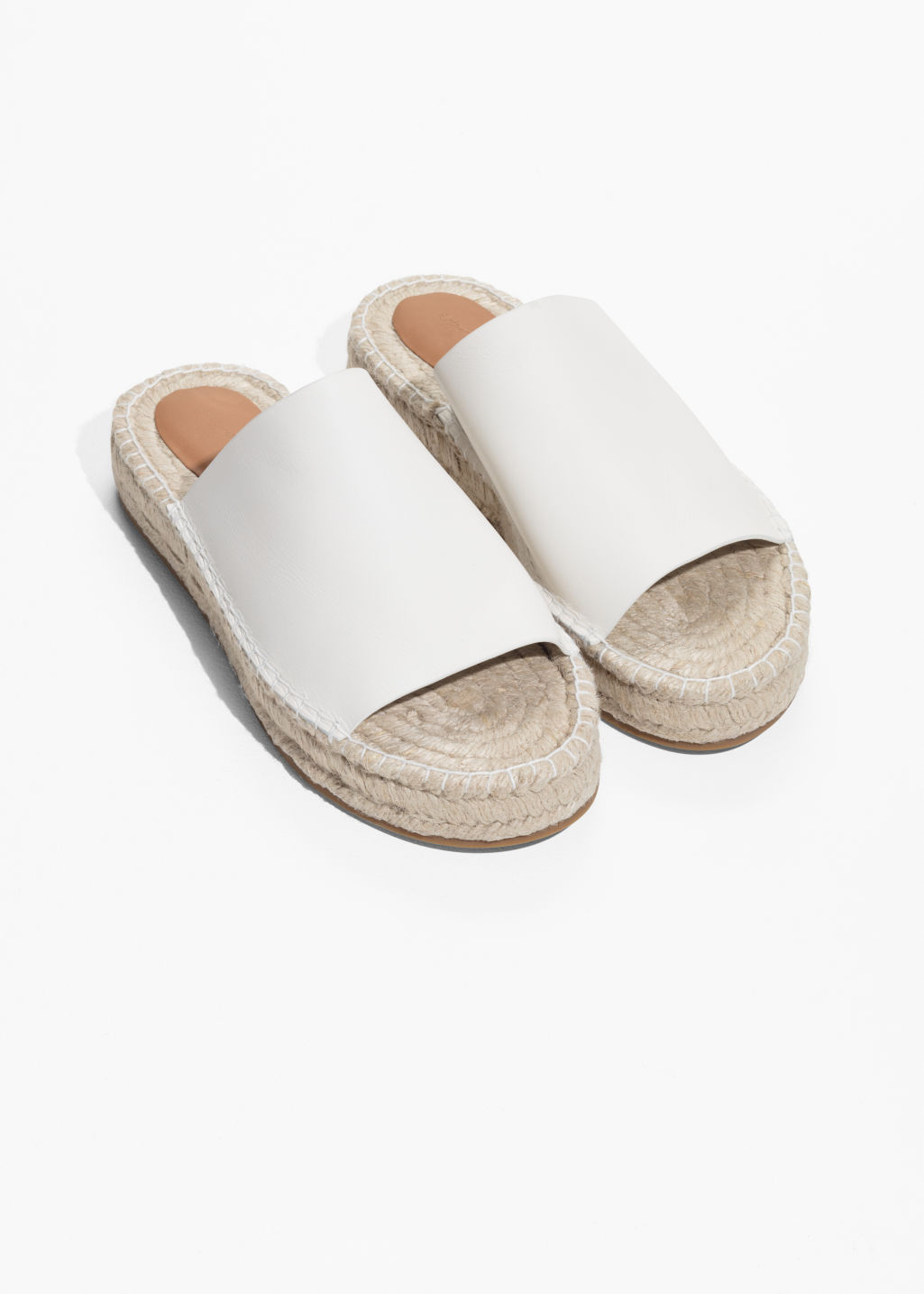 Back image of Stories slipper espadrilles in white