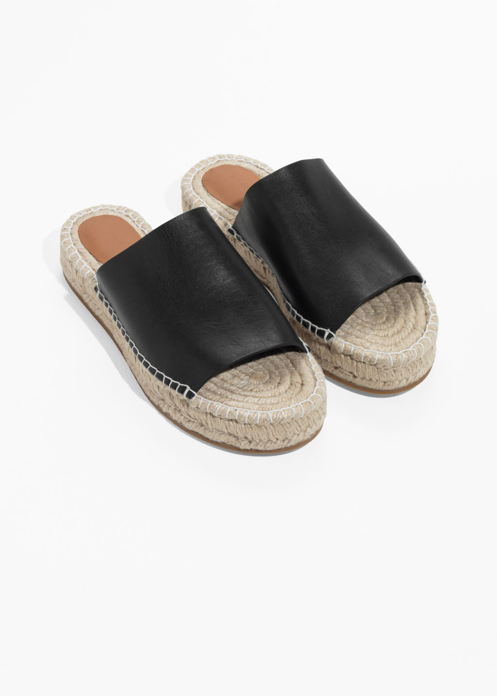 Back image of Stories slipper espadrilles in black