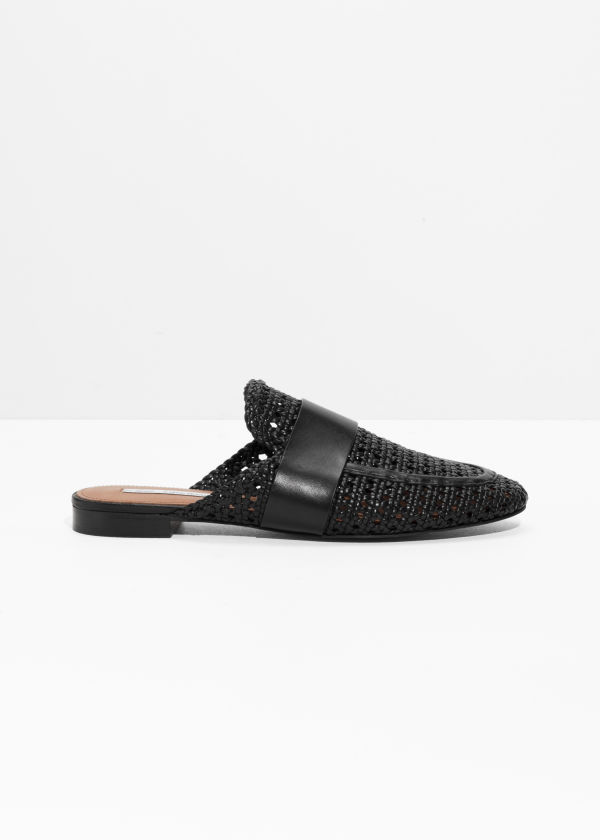 Woven Slip On Loafers