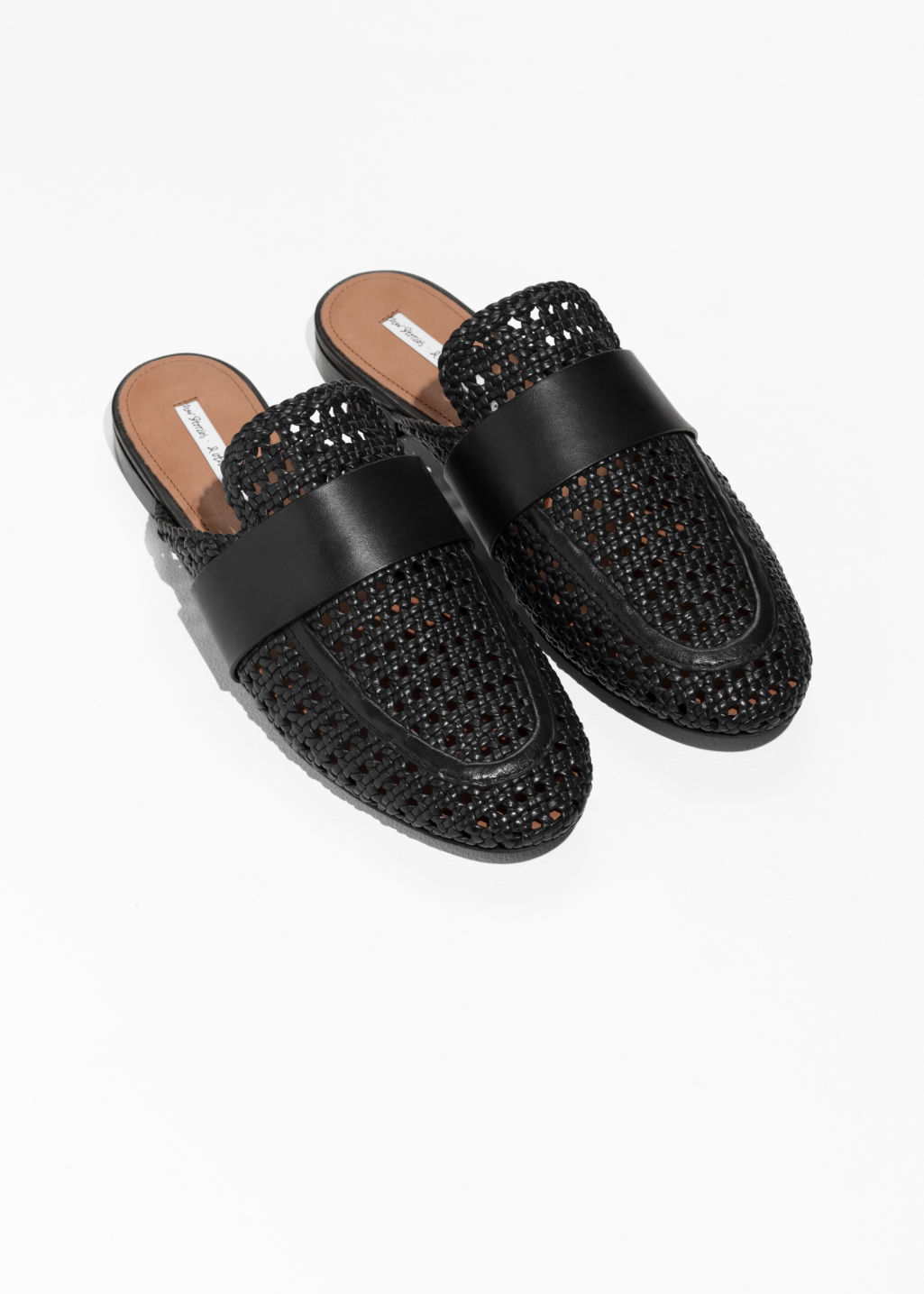 Back image of Stories loafers slippers in black