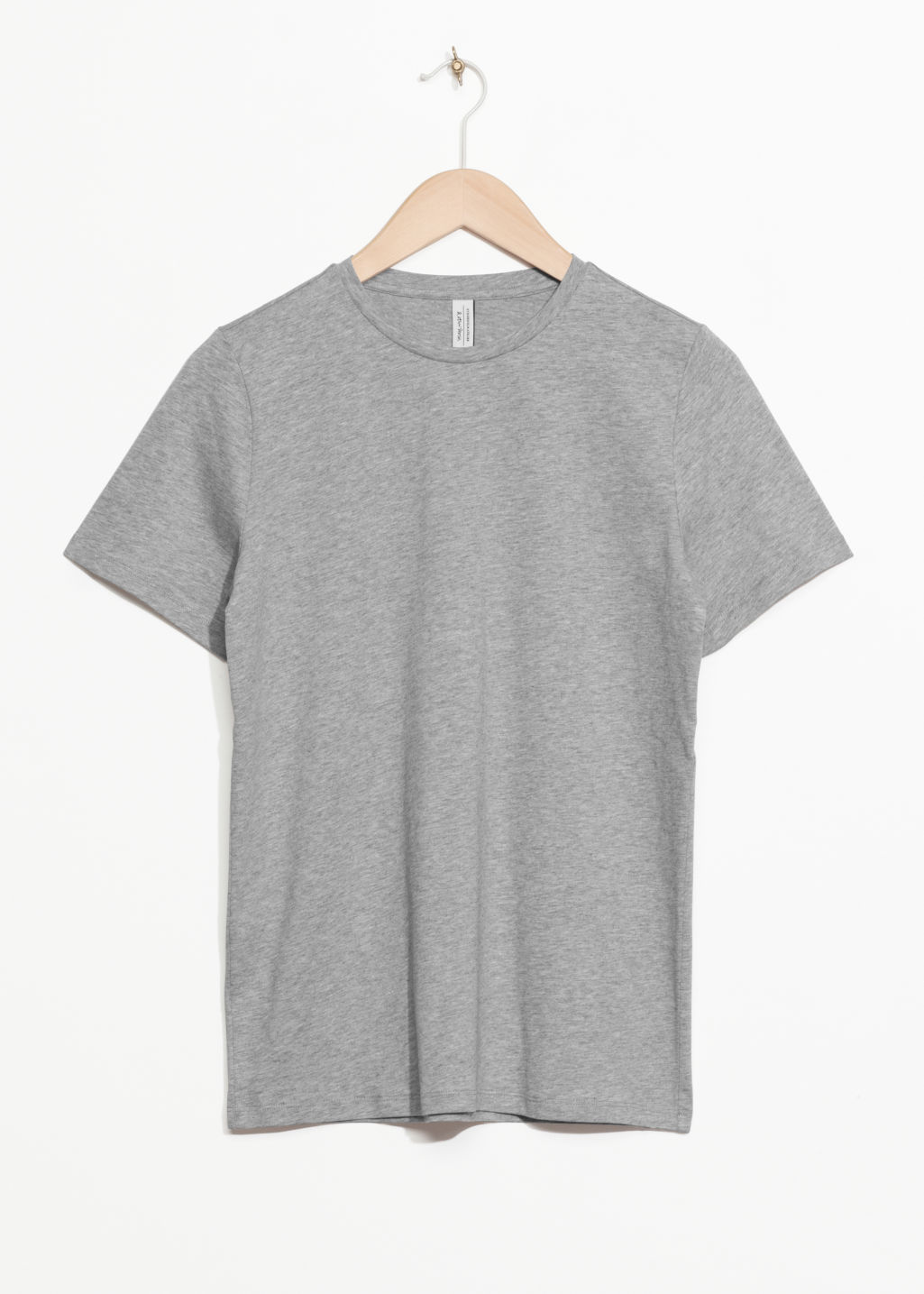 Front image of Stories organic cotton t-shirt in grey