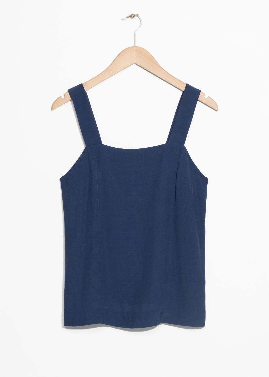 Front image of Stories wide strap top in blue