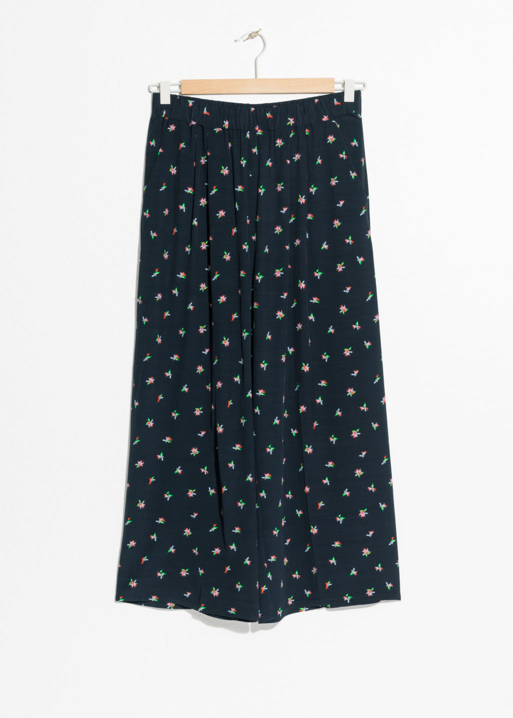 Front image of Stories high waisted culottes in blue