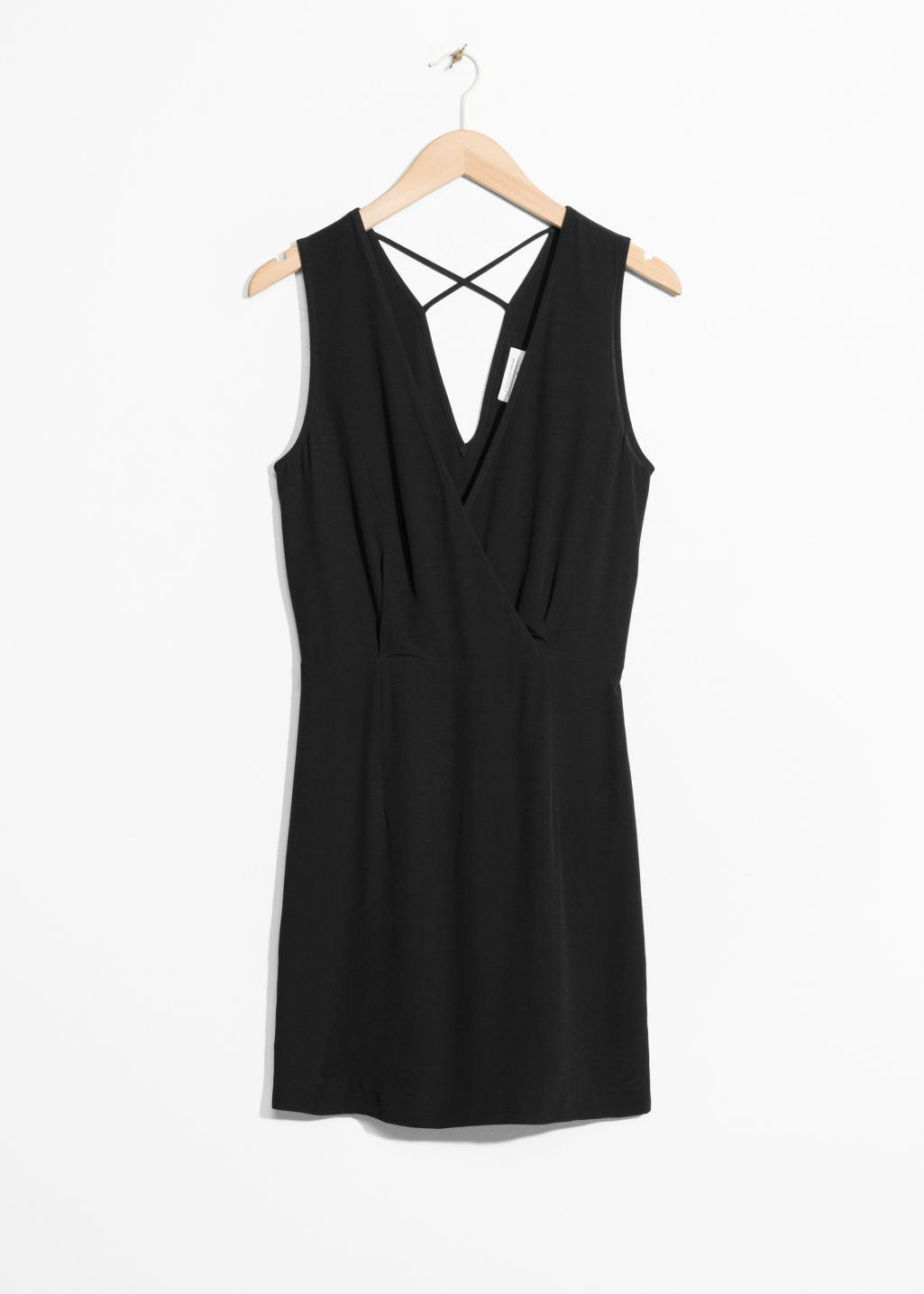 Front image of Stories mini dress in black