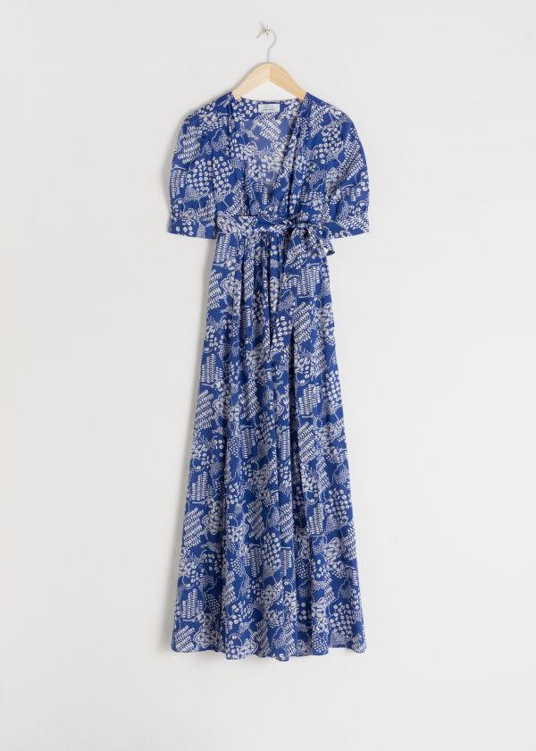 f0bdb1a25102 ... Cotton Blend Coffee Bean Maxi Dress