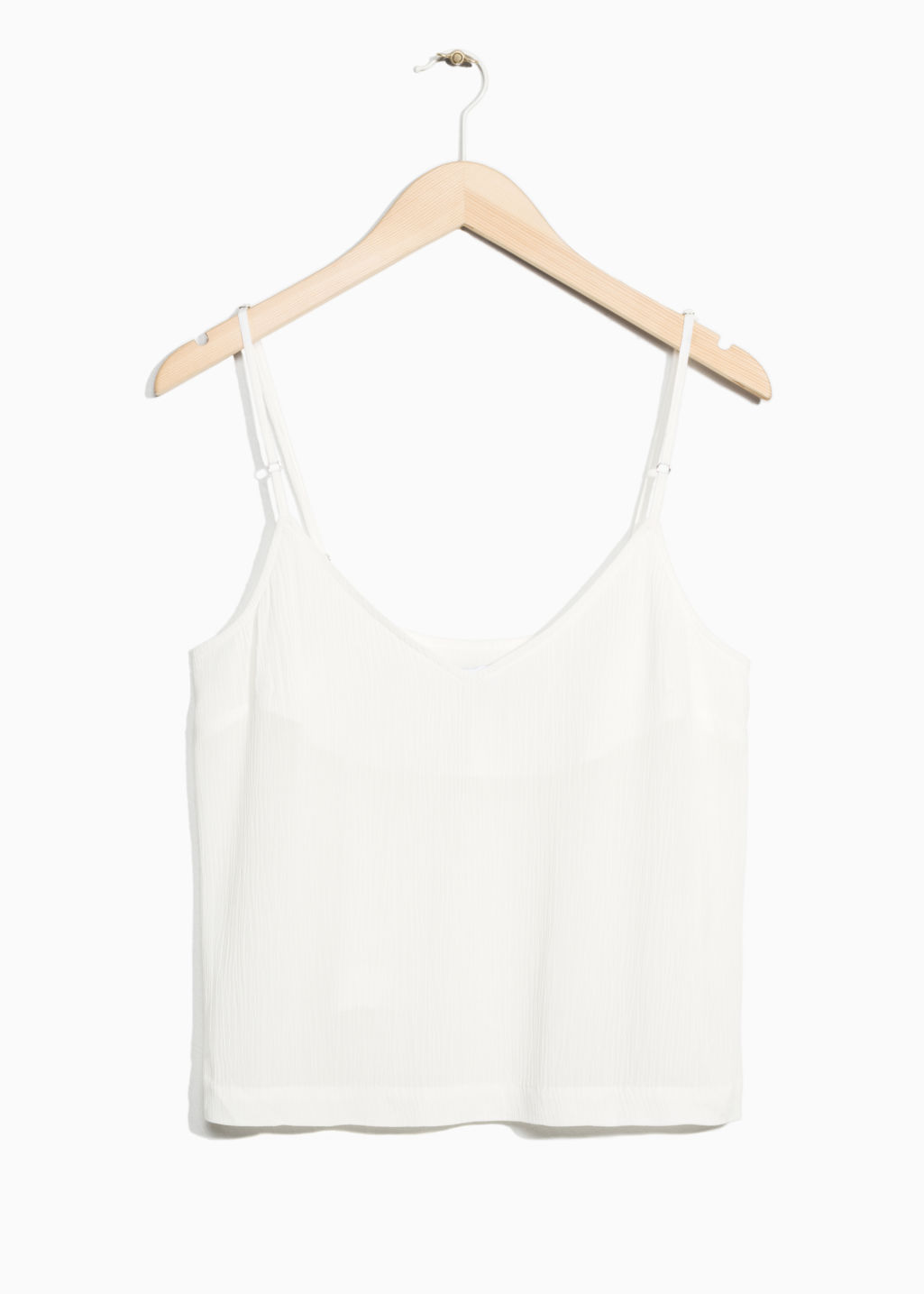 Front image of Stories crop tank top in white