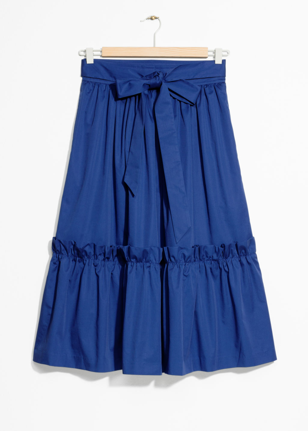 Front image of Stories a-line skirt in blue