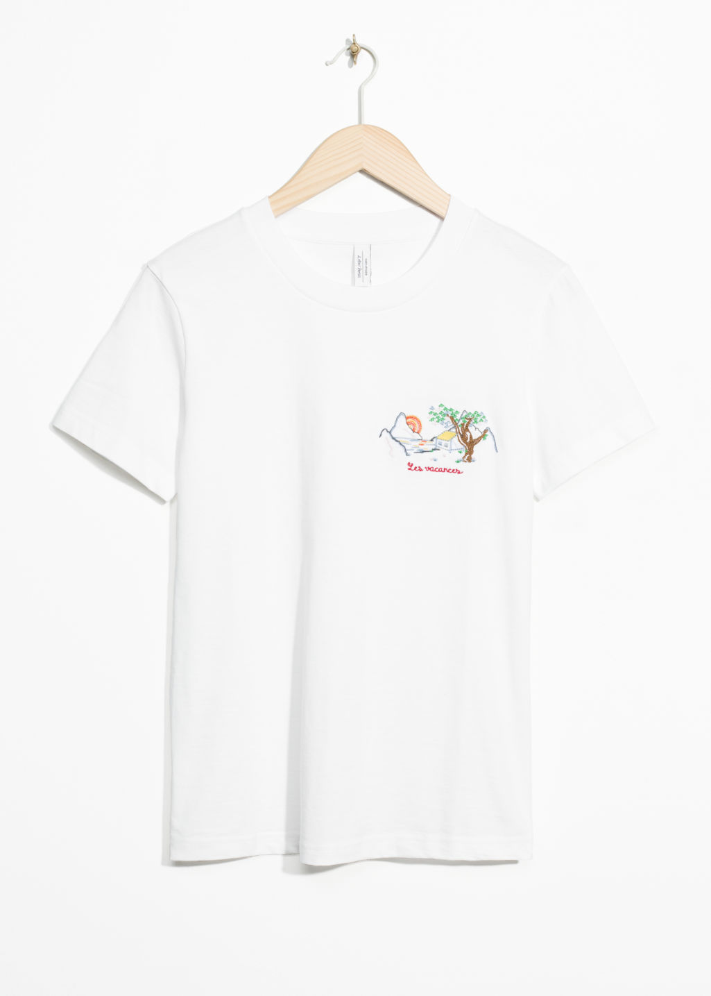 Front image of Stories les vacances tee in white