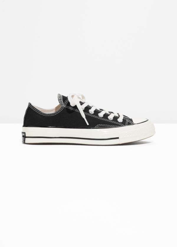 Front image of Stories chuck taylor all star 70 low in black