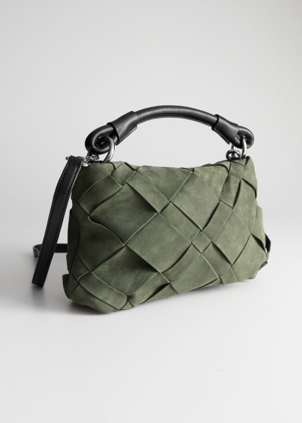 Braided Suede Crossbody Bag