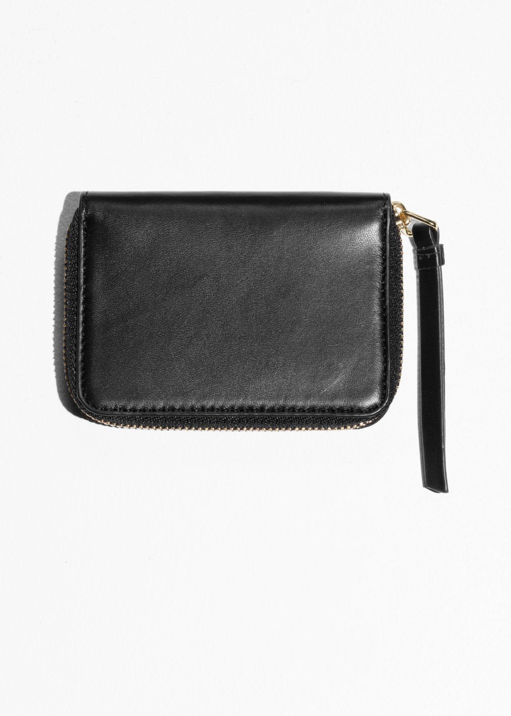 Back image of Stories leather wallet in black