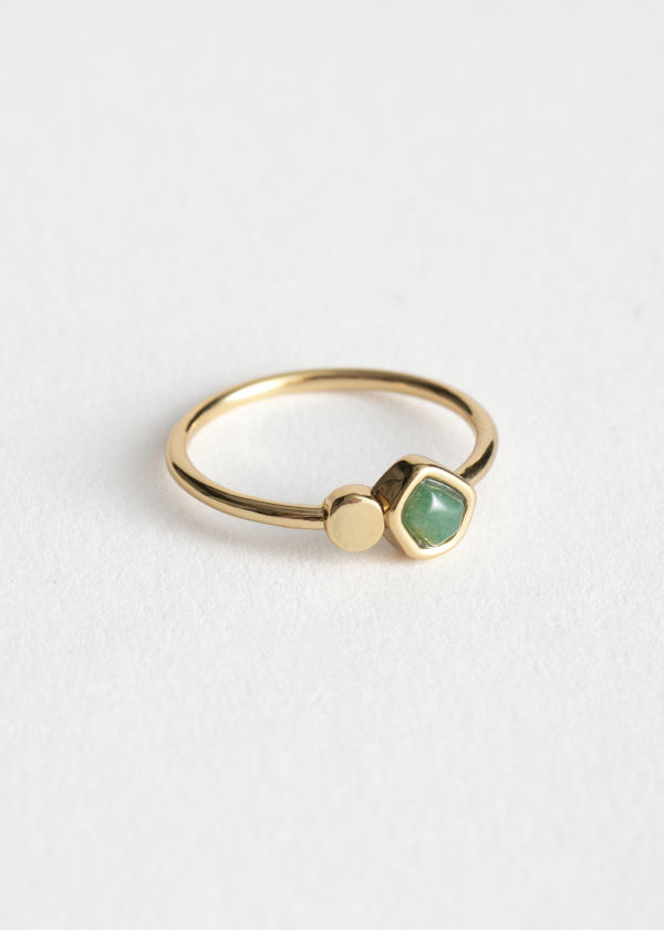 Stone and Stud Ring
