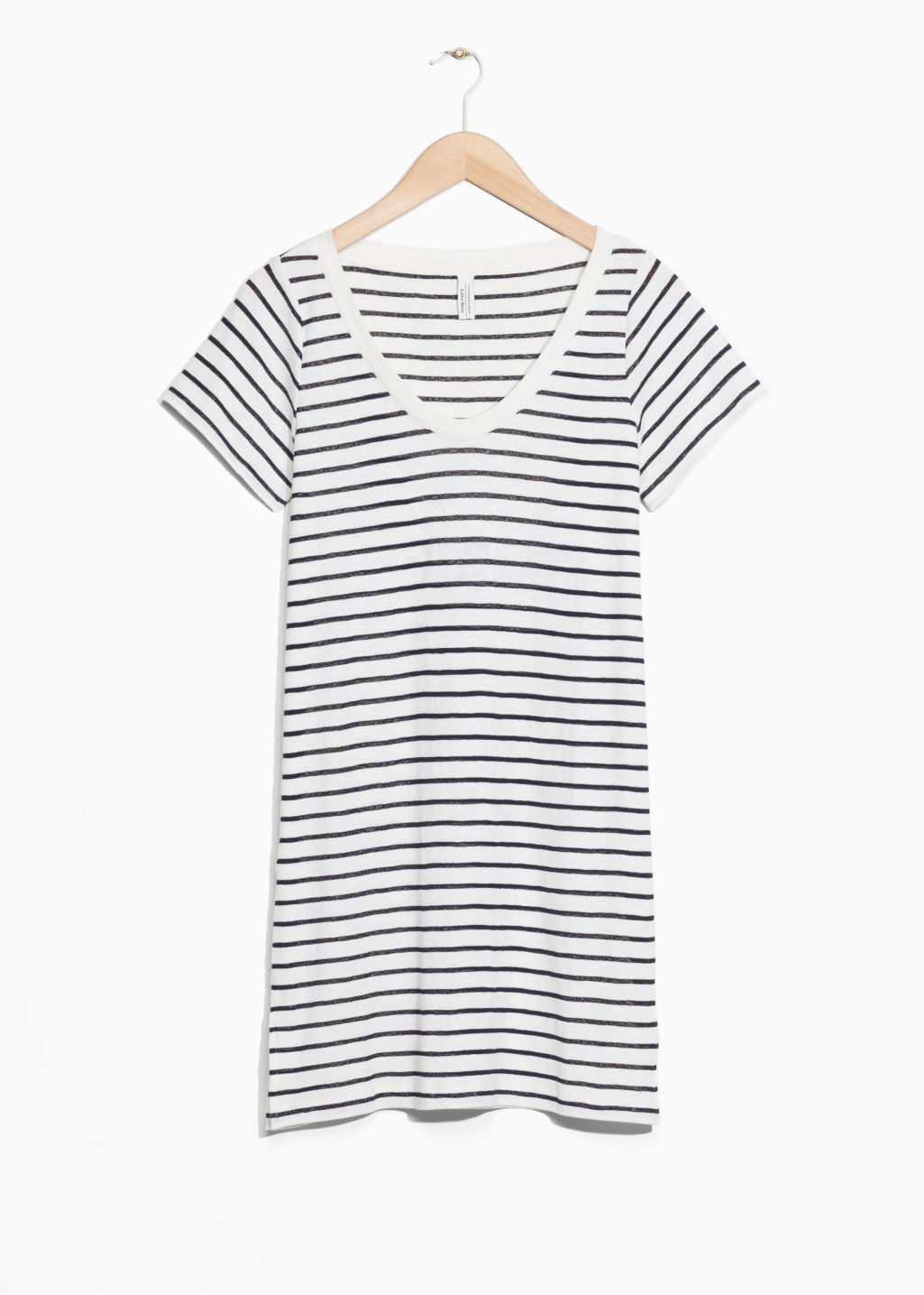 Front image of Stories oversized t-shirt dress in blue