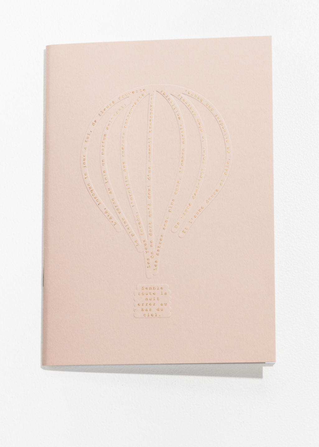 Back image of Stories hot air balloon a5 notebook in orange