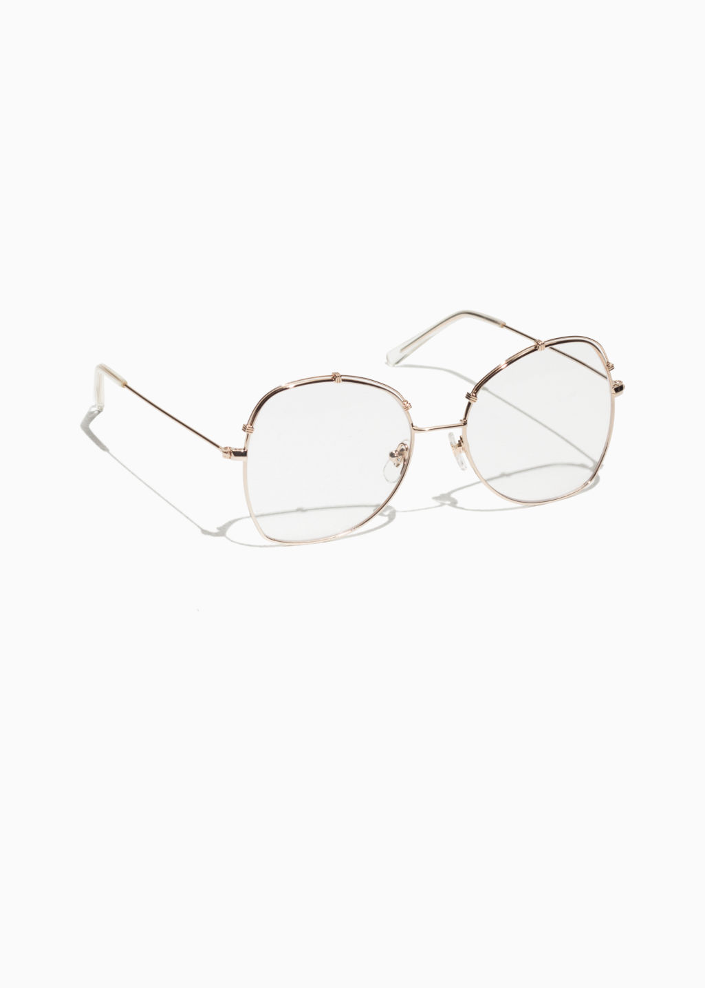Front image of Stories nostalgia glasses in gold