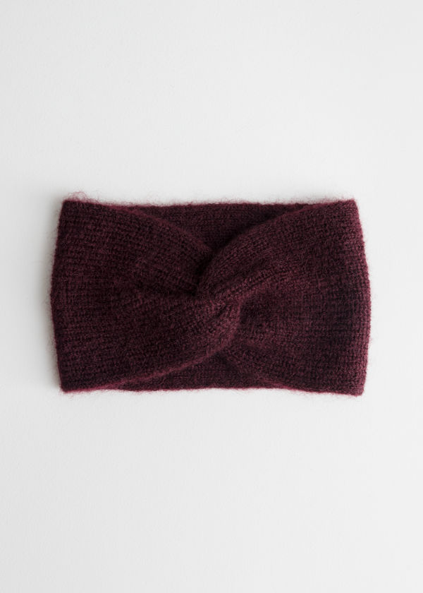 Twist Headband In Mohair Blend