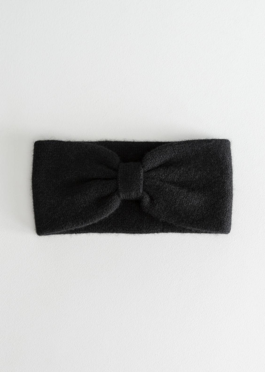 앤 아더 스토리즈 헤드밴드 & OTHER STORIES Cashmere Knit Bow Headband,Black