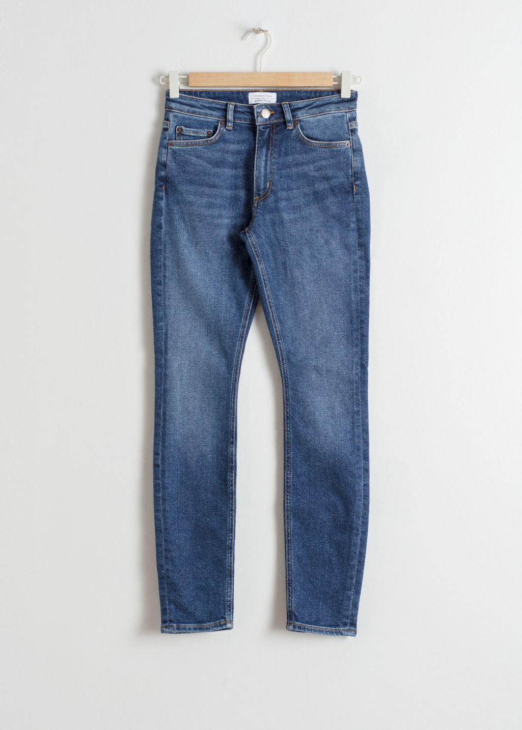 Front image of Stories denim jeans in blue