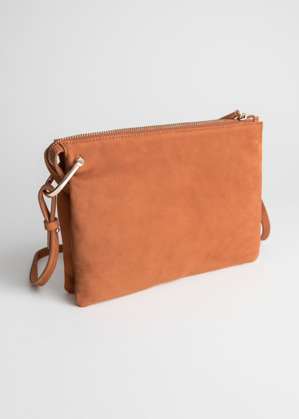 Front image of Stories medium d-ring crossbody in orange