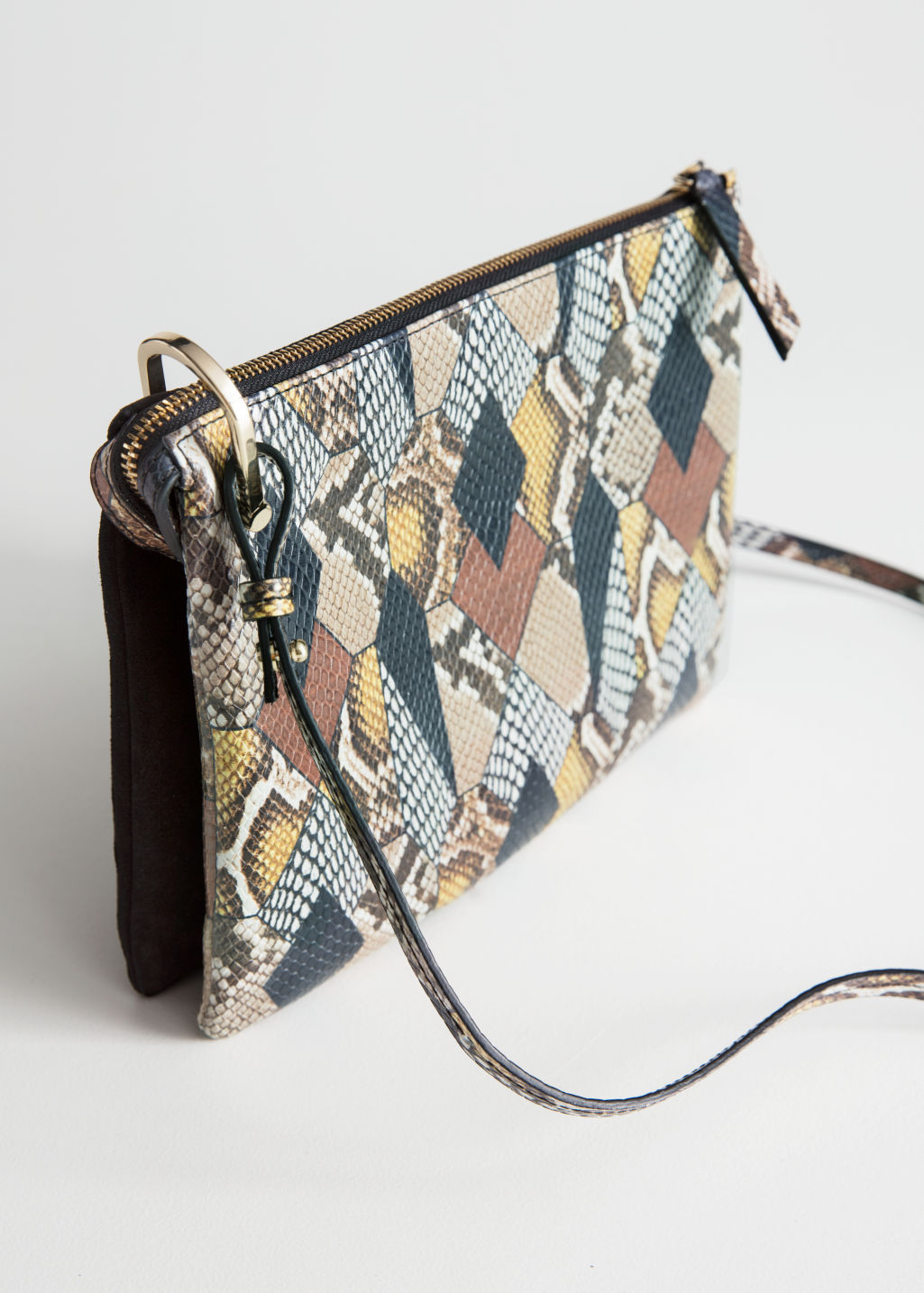 Back image of Stories medium d-ring crossbody in yellow
