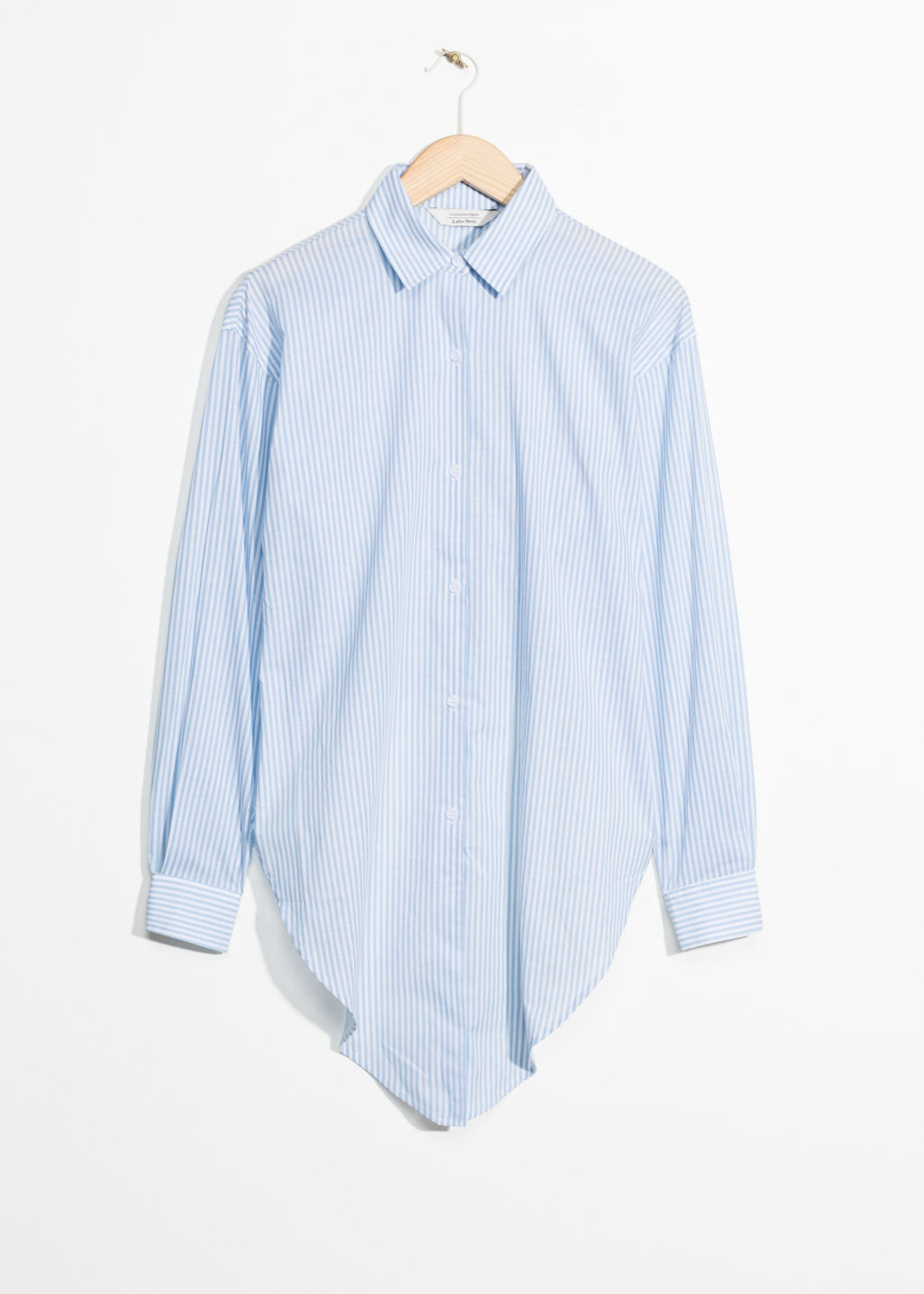Front image of Stories tie blouse in blue