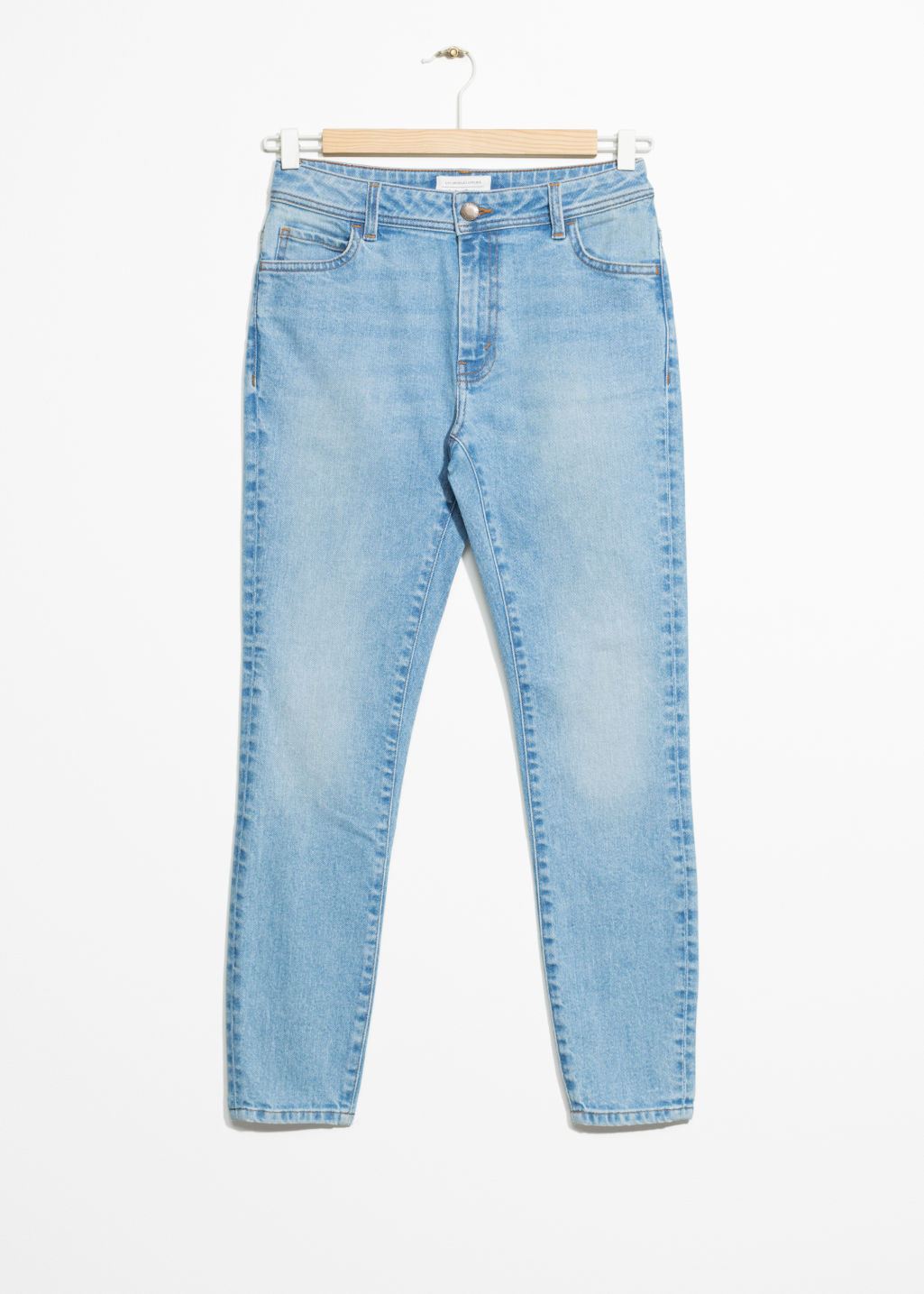 Front image of Stories stretch denim jeans in blue