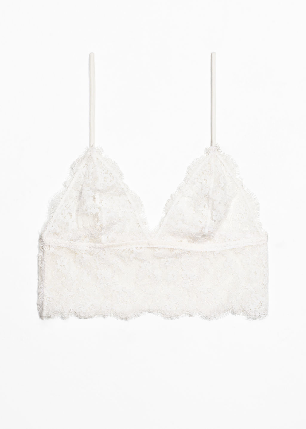 Front image of Stories soft lace bra in white