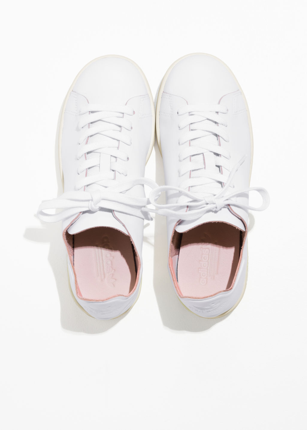 Back image of Stories adidas stan smith nude in white