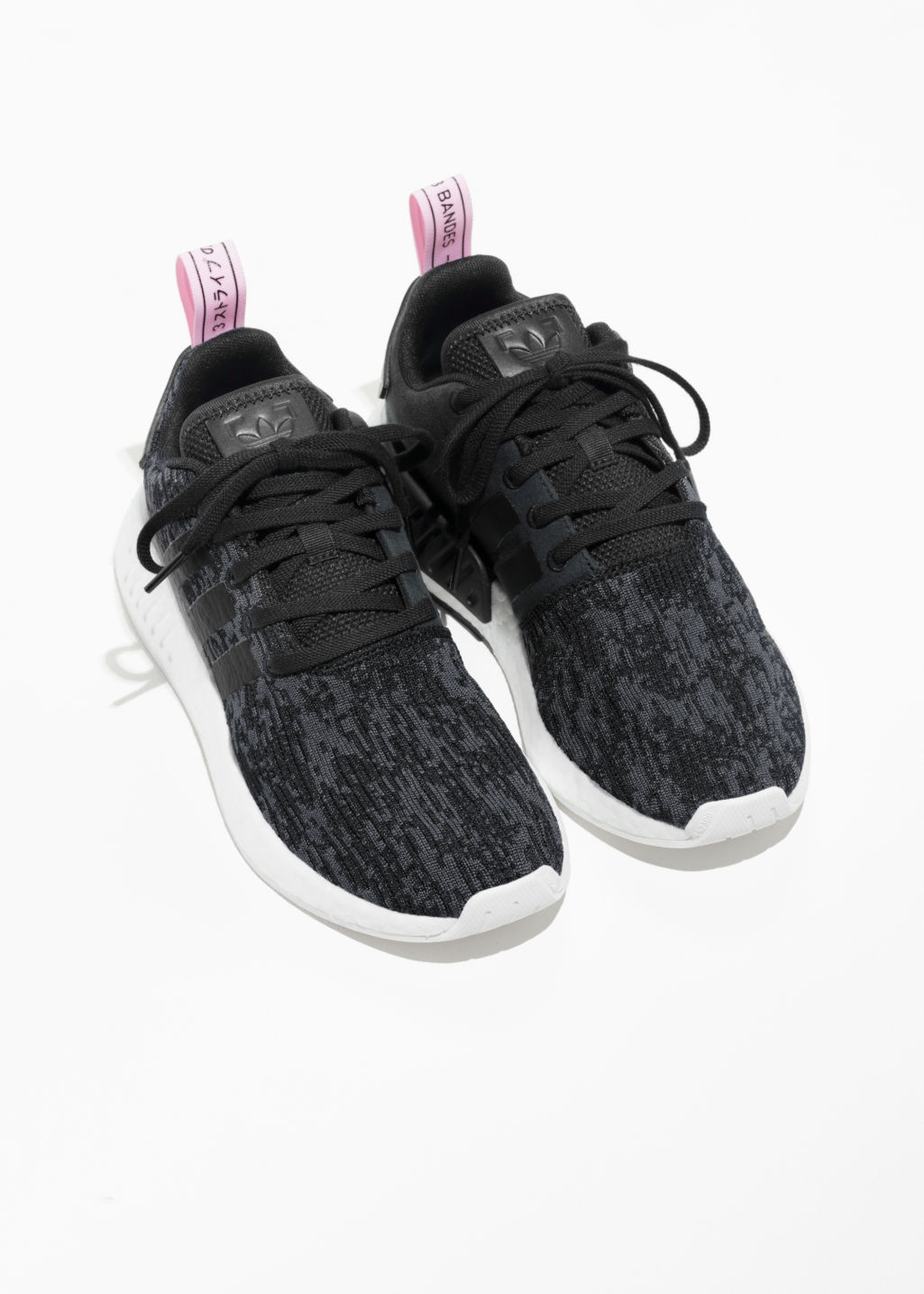 Back image of Stories adidas nmd_r2  in black
