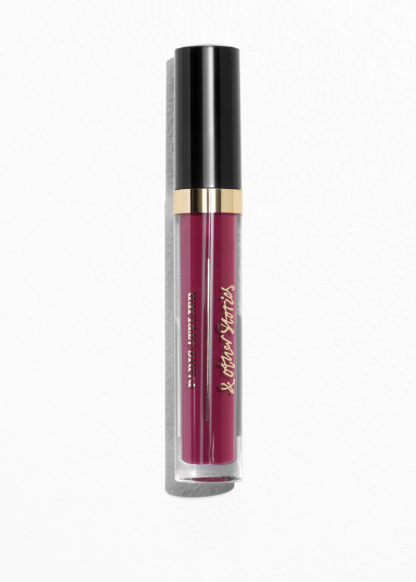Front image of Stories lip gloss in red