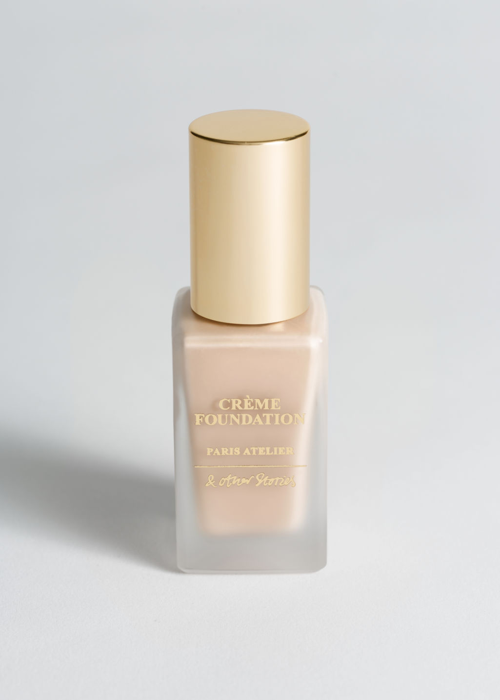 Front image of Stories crème foundation in beige