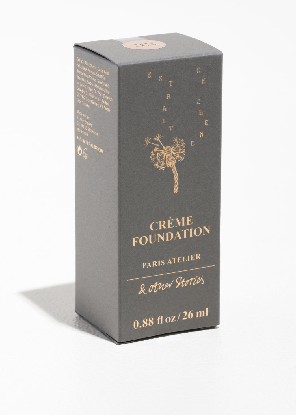 Back image of Stories crème foundation in beige